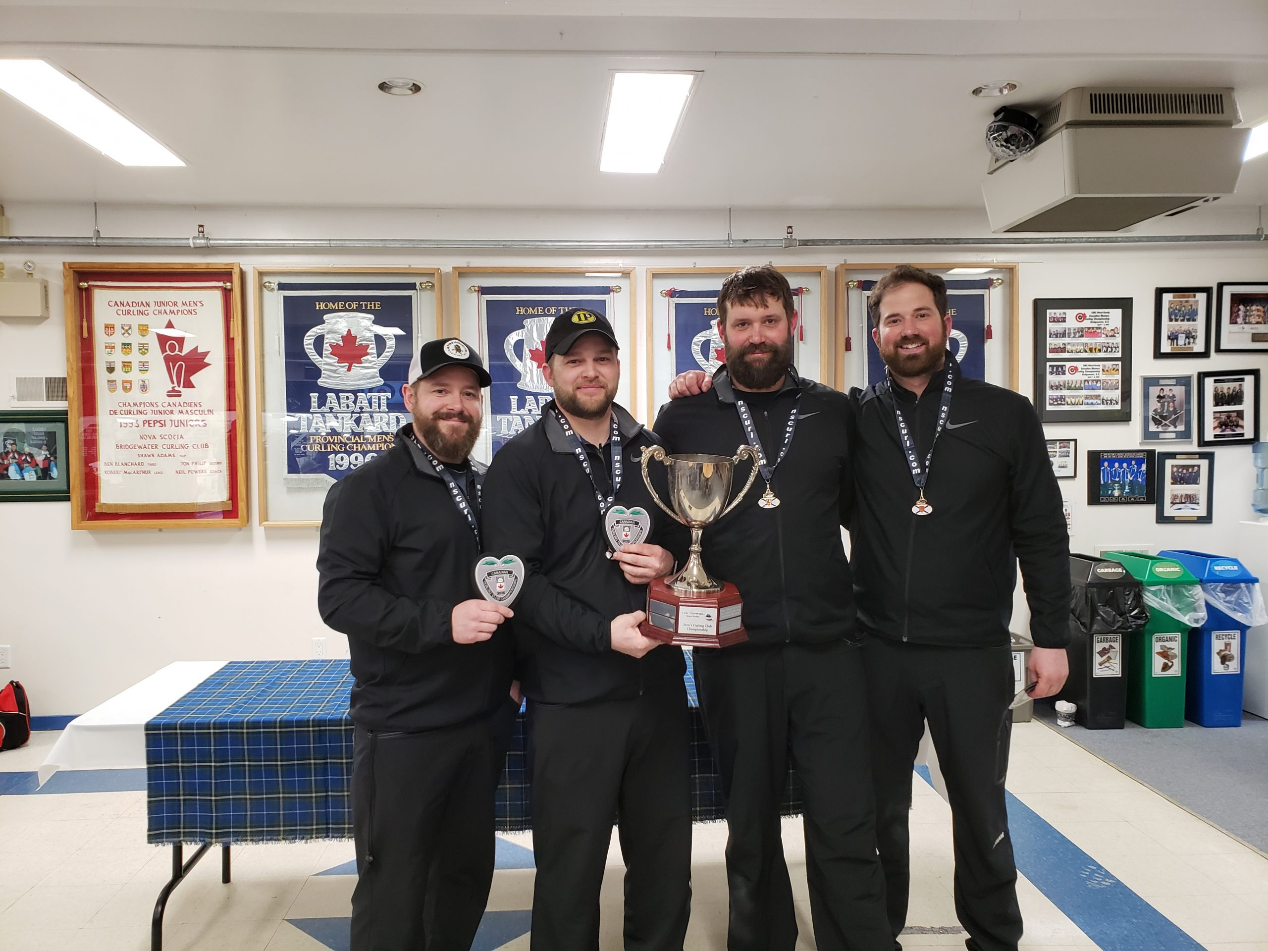 Team Deagle wins Men's Curling Club Championship